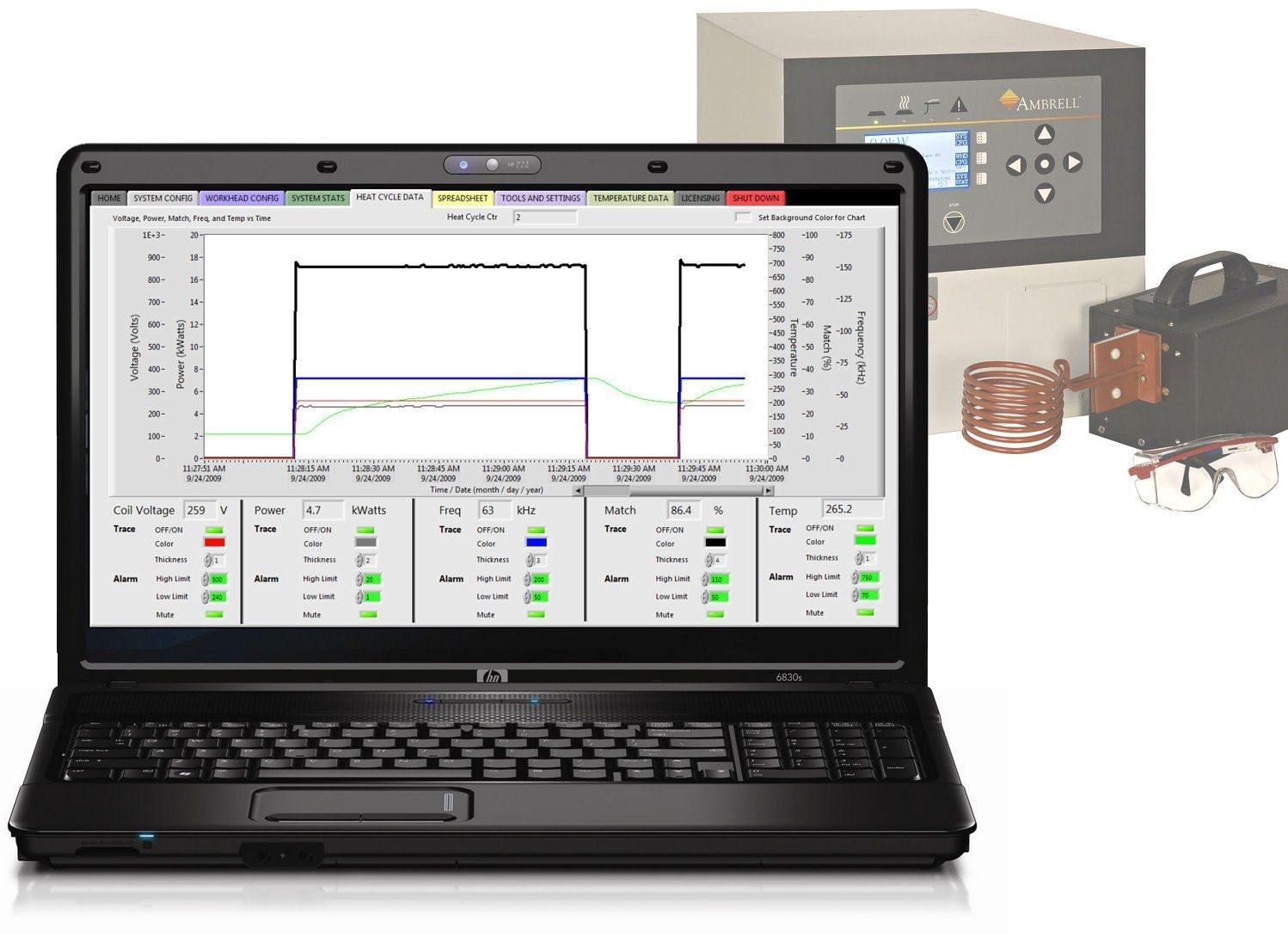 Induction heating software eVIEW™
