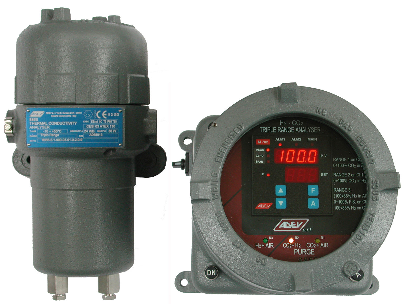 Gas analyzer / thermal conductivity 8866TR 氣體分析儀/導熱8866tr