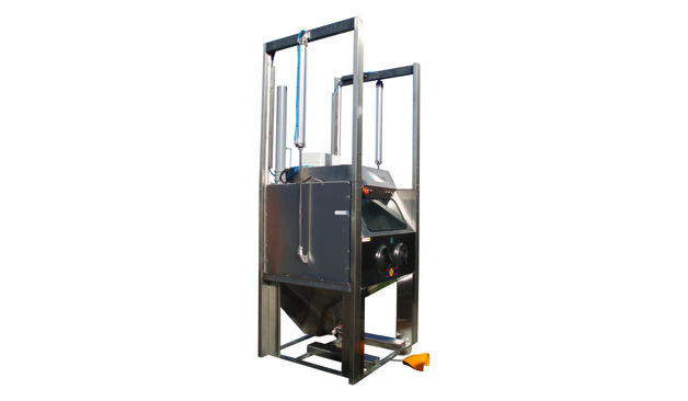 Rotating table sand-blasting machine / stationary / automated Aquablast